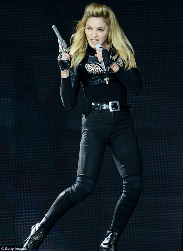 Hitting the headlines: Madonna has caused controversy with certain aspects of her MDNA tour