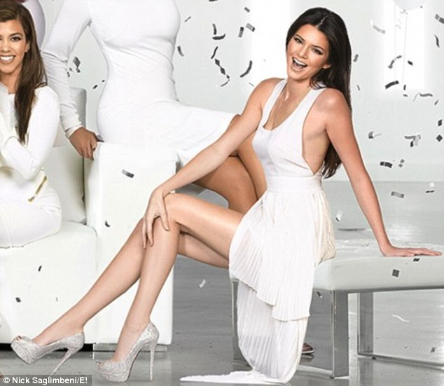 Stealing the show: Kendall shows just why she's winning modelling contracts as she poses in a backless dress