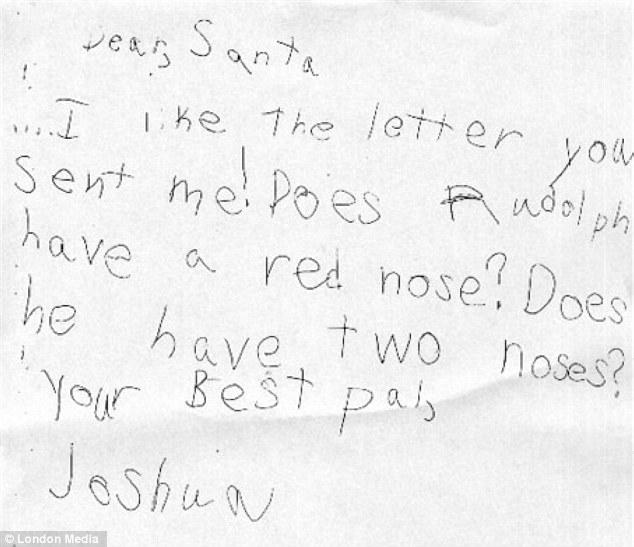 'Dear Santa, I've been a good girl this year, please bring