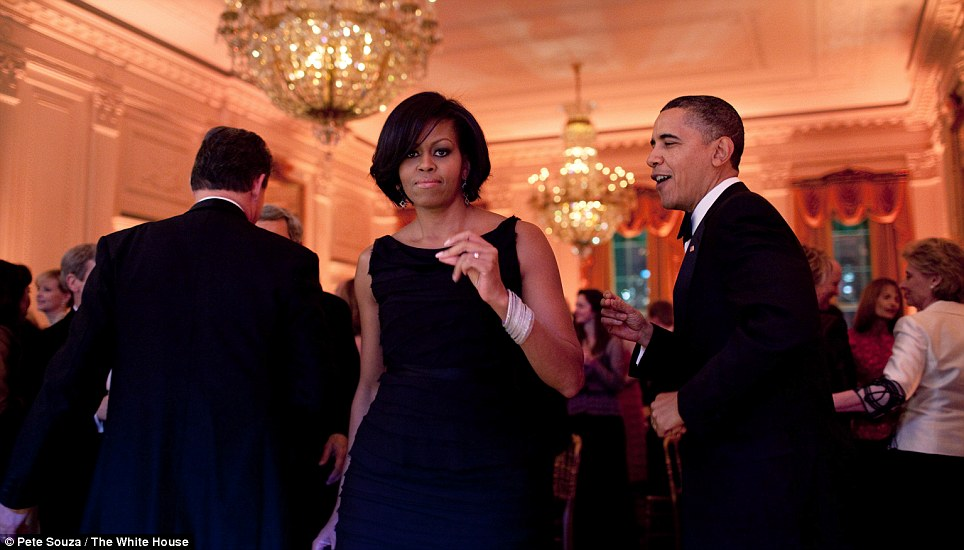 President Obama and First Lady Michelle Obama dance together during the Governors Ball in the East Room of the White House, Feb. 21, 2010