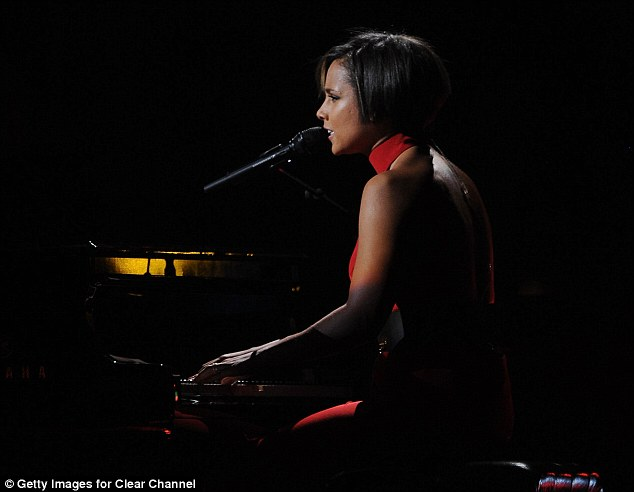12-12-12: Alicia Keys performs at a concert benefiting The Robin Hood Relief Fund to aid the victims of Hurricane Sandy