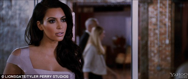 Social climber: Kim Kardashian stars as image-obsessed business woman Ava in a newly-released trailer for Tyler Perry's Temptation: Confessions of a Marriage Counselor