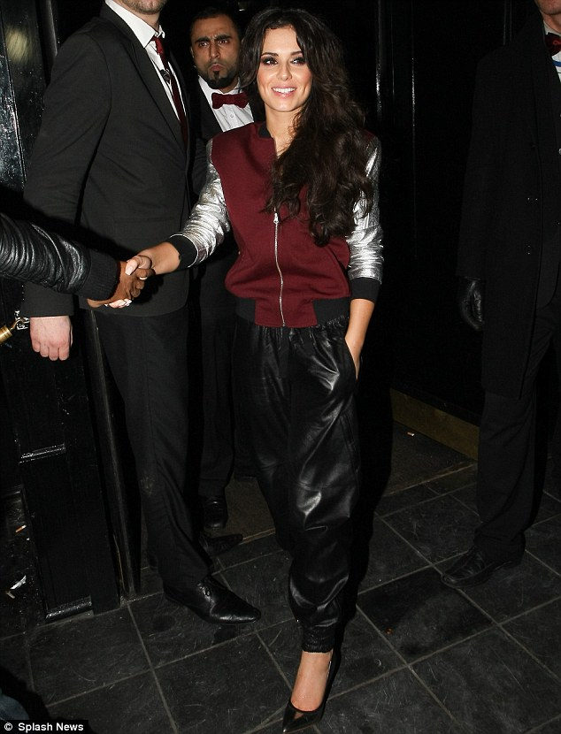 DJ Chezza! Cheryl Cole stepped out in a sporty ensemble as she took to the decks for a DJ set at London's The Rose Club on Thursday night