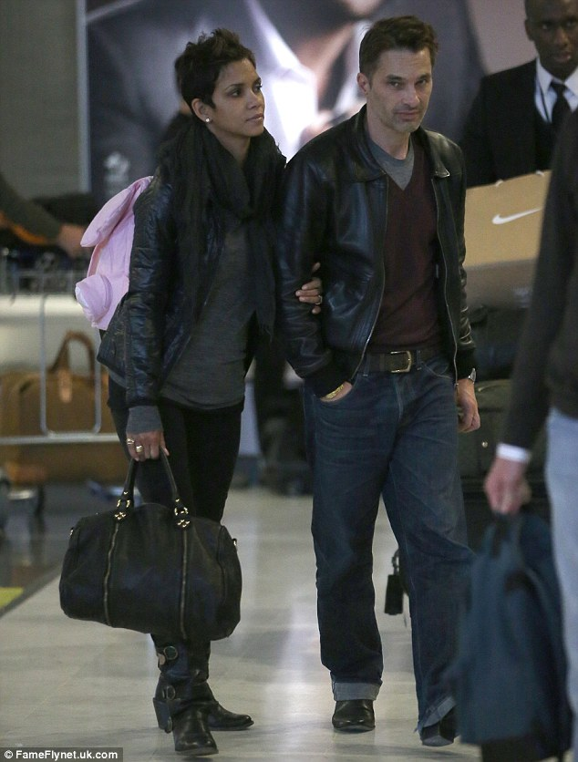 Home for the holidays: After months in Los Angeles, Olivier Martinez touches down in his native France