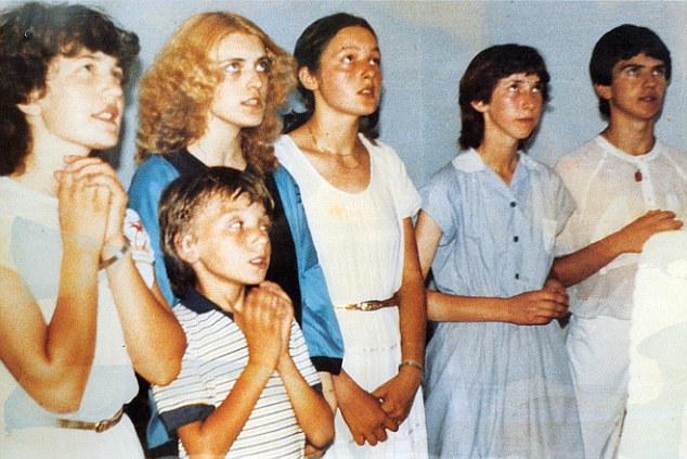 Life changing: The six young visionaries - from left to right Vicka Ivankovic, Jakov Colo, Mirjana Dragicevic, Ivanka Ivankovic, Marija Pavolic and Ivan Dragicevic - who first claimed to have seen an apparition of the Virgin Mary in 1981