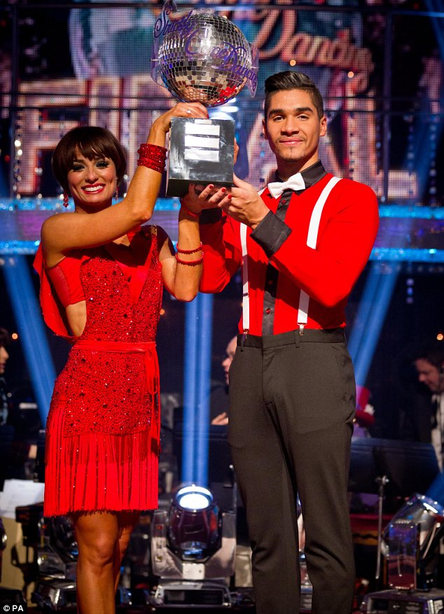 Winners: Louis Smith and his partner Flavia Cacace lifted the Glitterball on Saturday night's Strictly Come Dancing final show