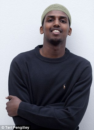Mahdi Hashi, 23, from London, pictured, has been captured by American secret agents and brought before a court in New York on terrorism charges