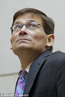 Not a fan: Acting CIA Director Michael Morell lambasted the film in a public statement to his employees on Friday claiming it doesn't fairly portray what really happened in 2011 or the decade of work beforehand