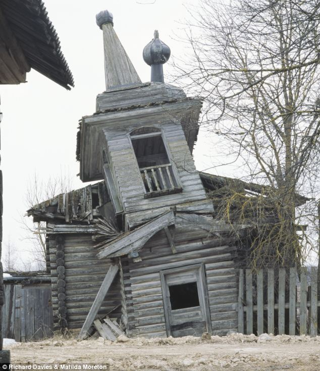 Ramshackle: This church teeters on the brink of collapse, its foundations appearing to sink into the earth