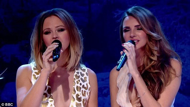 Crooners: Kimberley Walsh and Nadine Coyle displayed their vocal talents as they performed Beautiful 'Cause You Love Me