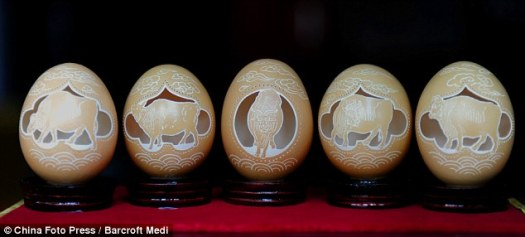 Nature: These egg shell sculptures show beautifully-recreated animals