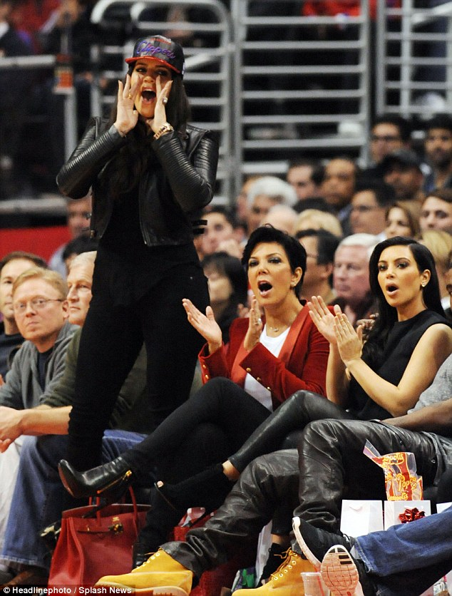 No. 1 fan: Khloe cheered on her husband Lamar Odom