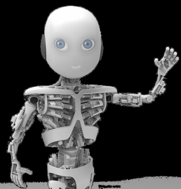An artist's impression of how Roboboy could look. Scientists plan to spend nine months creating him, and hope he could become an automated helper for the sick and elderly