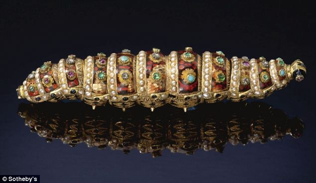 Steampunk eat your heart out: This incredible jewel-studded caterpillar that shows how the robot makers of the 19th Century had far more style than those building the functional machines of today
