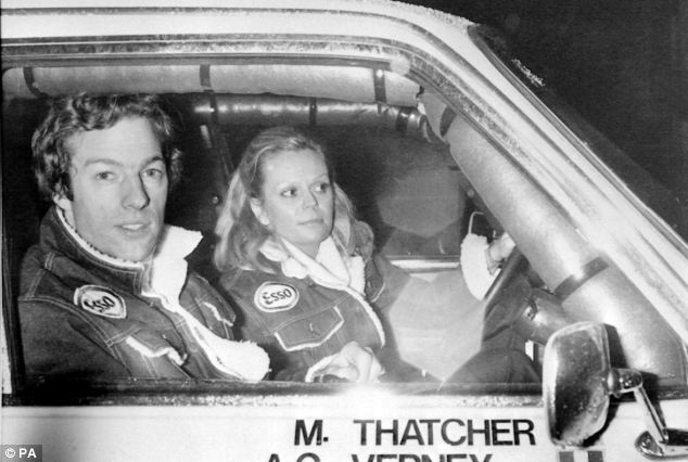 Controversy: Mark, who was 28 at the time, and his co-driver Anne-Charlotte Verney pictured during the 1982 during the Paris to Dakar car rally, where he went missing for six days
