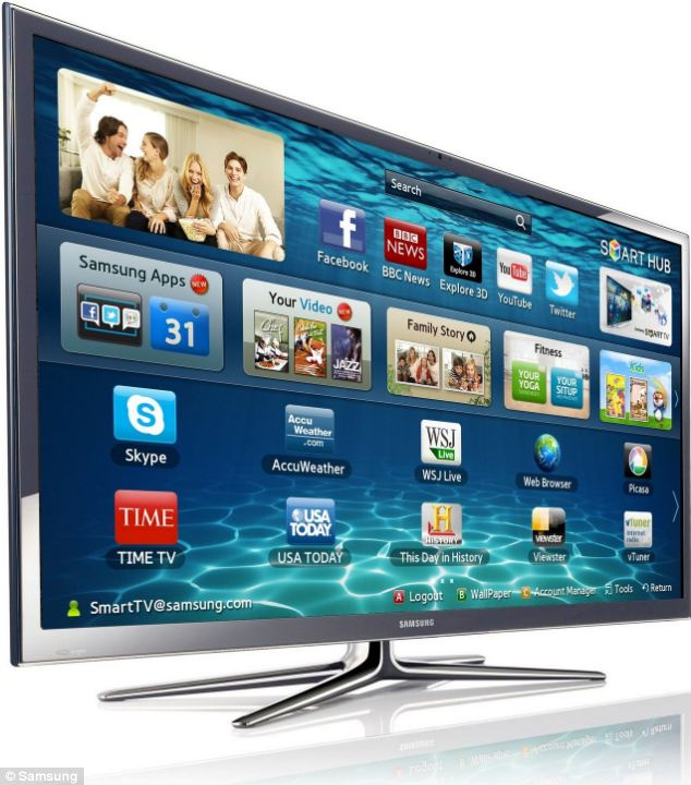 One of Samsung's flagship smart TVs, which offers apps and access to twitter and Facebook. However, research now claims most consumers simply use it to watch TV.