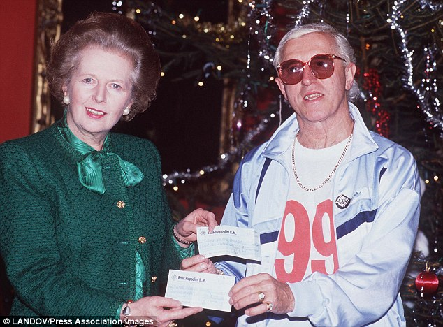 Warm relationship: The letter is thought to mark the beginning of a close friendship between Jimmy Savile and Margaret Thatcher. But further correspondence between the pair has been censored because it is 'personal' or 'confidential'
