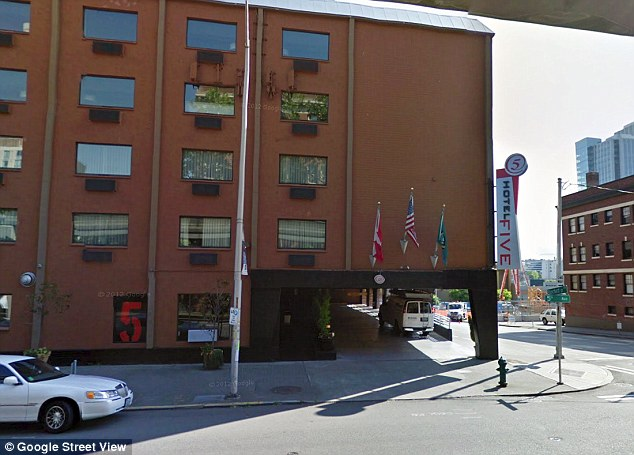 This is the hotel in downtown Seattle where Blazak allegedly staged the sex sting