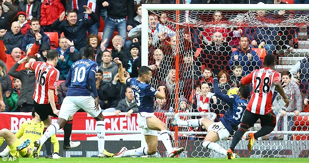 Been a while: Sunderland took the lead through John O'Shea's first goal in more than three years