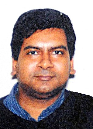 Innocent: Sunando Sen, 46, a native of Calcutta, India, has been identified as the man who was shoved onto the subway tracks in front of an oncoming train