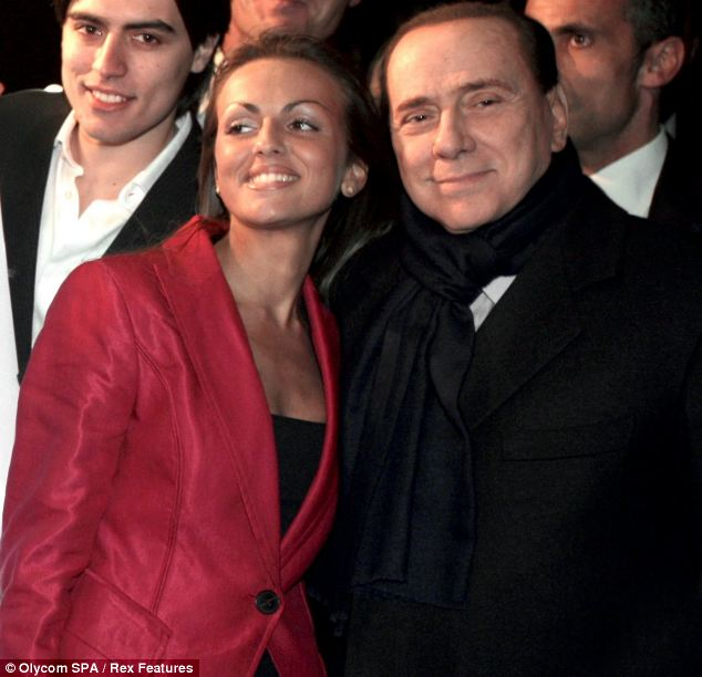 Engaged: Mr Berlusconi (right) pictured with his new fiancee Francesca Pascale, 27