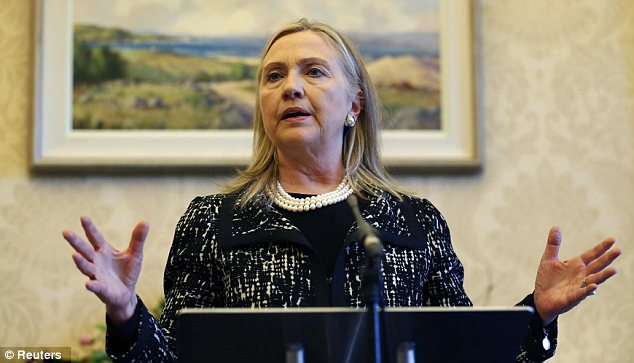 Health scare: Hillary Clinton's doctors discovered the clot during a follow-up exam on Sunday