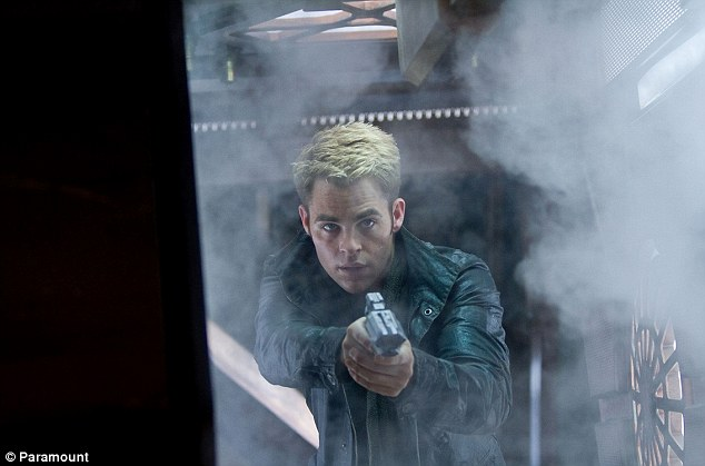 Leading man: Chris Pine is a more modern type of Captain Kirk