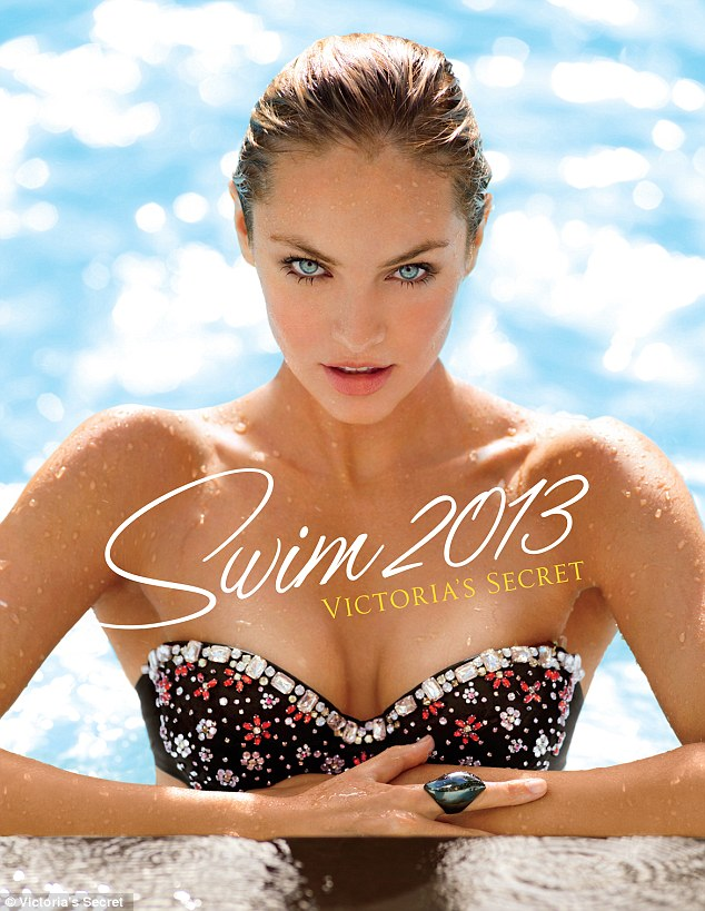 Swim cover: South African Victoria's Secret Angel, Candice Swanepoel, stars of the 2013 Swim Catalog for the third time in a row