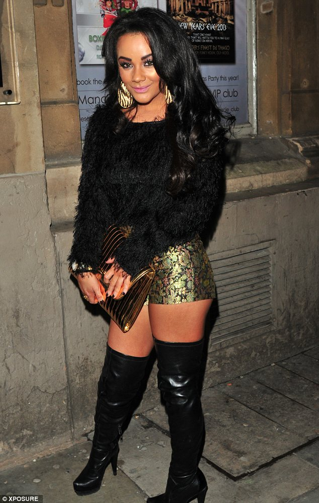 Pretty Woman: Chelsee Healey seems to be taking tips from Julia Robert's infamous character in thigh high leather boots on a night out