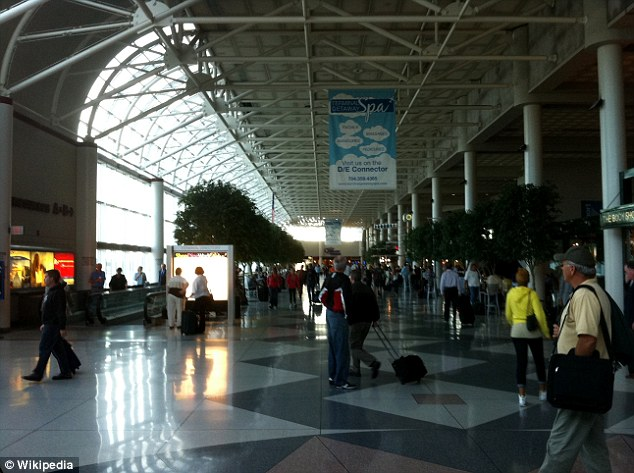 Charlotte Douglas International Airport - where William Hilton Paul was arrested on Saturday morning