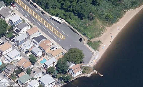 Secluded: The body was found between Marine Park (right) and Gerritsen Beach (left)