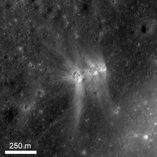I tre crateri sono formate in minuti l'una dall'altra, provocando le creste uniche tra loro