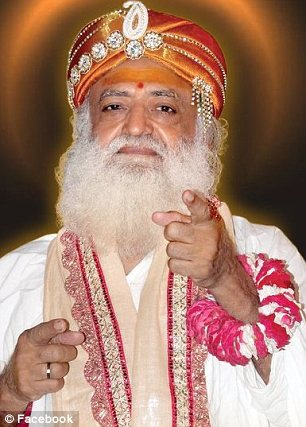 Outrage: Asaram Bapu has come under fire for criticising the victim of the notorious Delhi gang rape