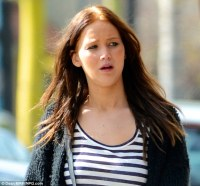 Jennifer Lawrence steps out with tiger stripe hair as she ...