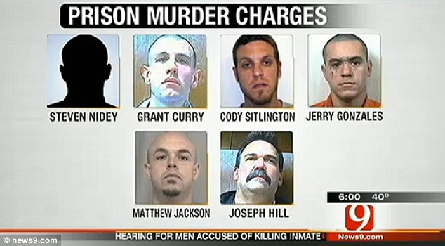 Coordinated kill: Six inmates have been charged with murder in what looks like a pre-planned attack where they worked together, and even celebrated afterwards
