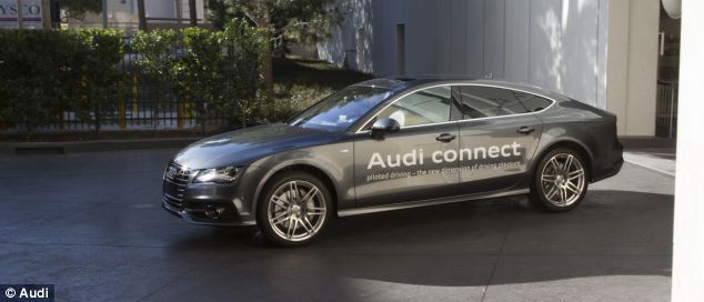 Audi's self parking A7 being tested in Las Vegas. It uses sensors on the car and in the car park to drive itself