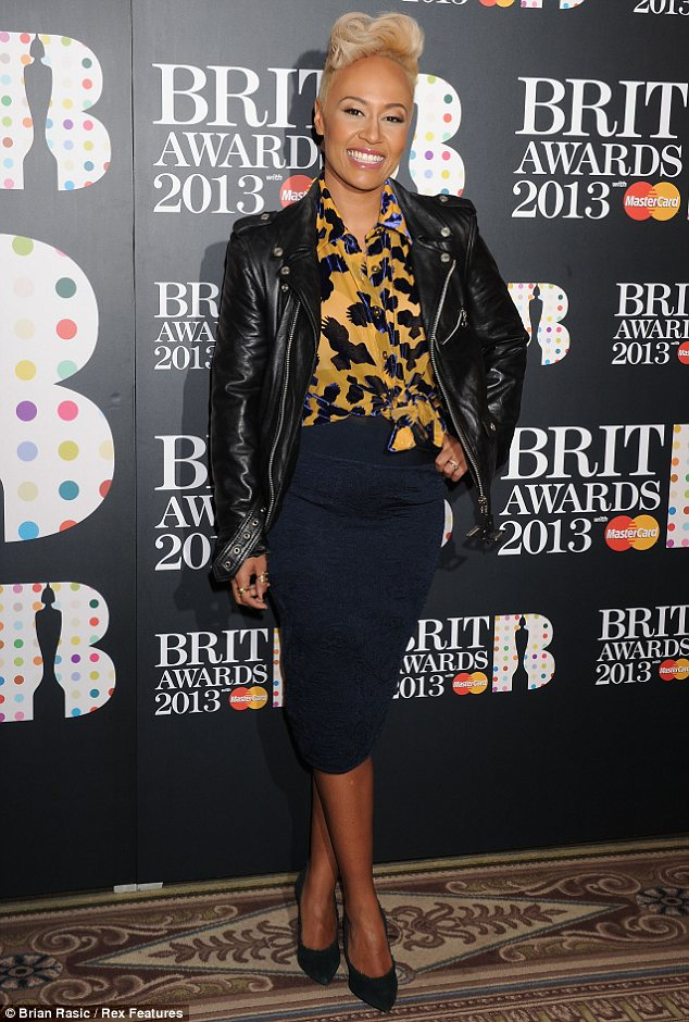 Four nods: Emeli Sande beamed at the event, after learning she had scooped four nominations in three categories