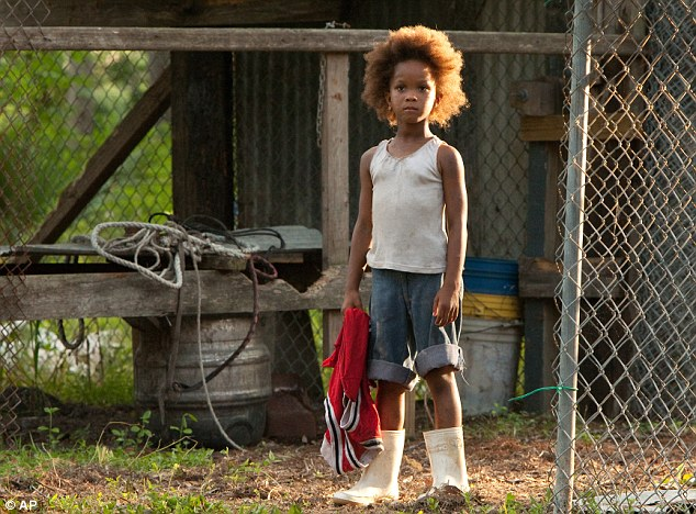 Record breaker: Quvenzhané Wallis has been announced as the youngest ever Oscar nominee for Best Actress in a Leading Role for her role in Beasts Of The Southern Wild