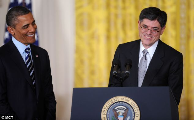 Scrawl: President Obama joked that Jack Lew's loopy signature could devalue the national currency at the nomination of the new Treasury Secretary at the White House today