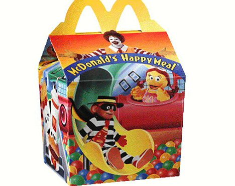New toy: The educational books will be included with the famous Happy Meals