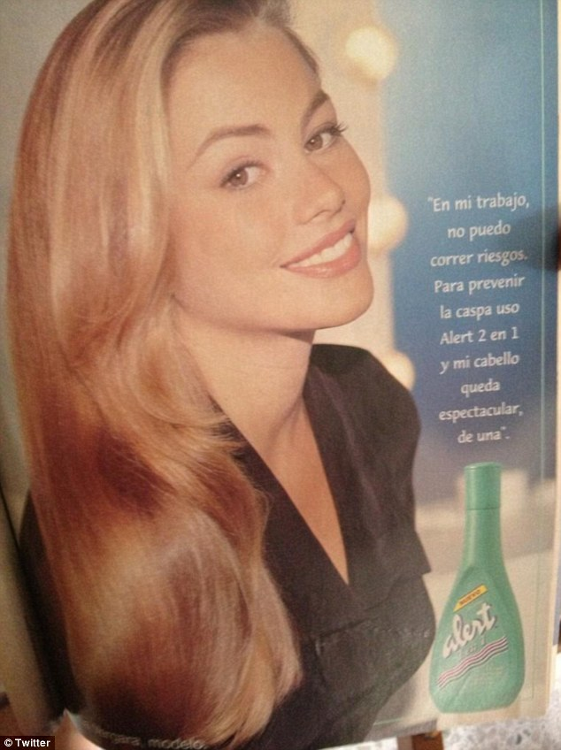 Great hair: Her blonde locks were even highlighted in shampoo adds