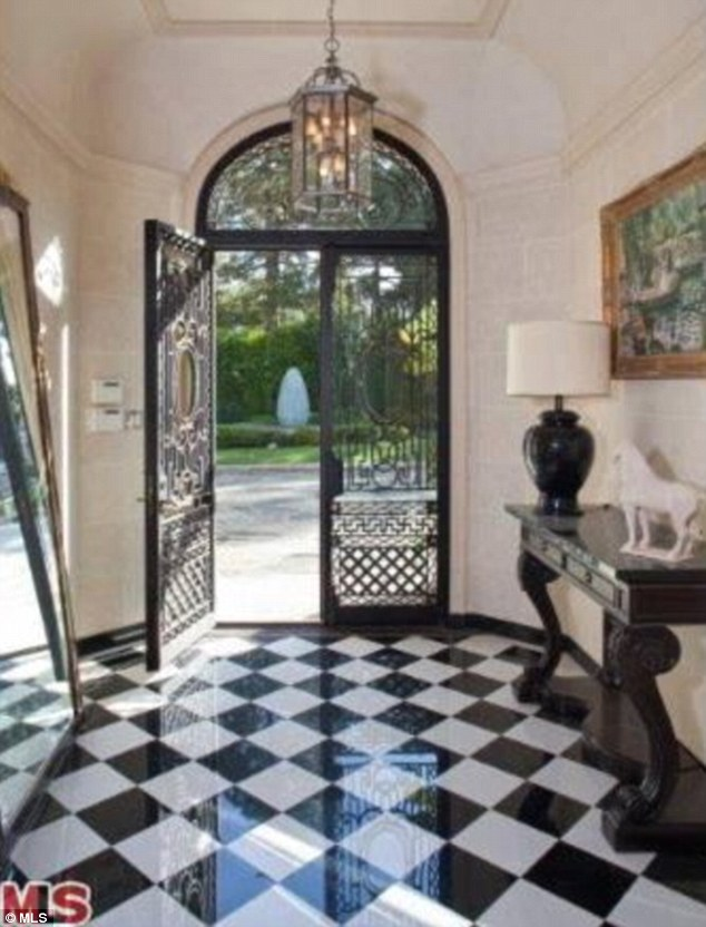 Check it out: A man of Diddy's taste will have surely been impressed with the majestic entryway