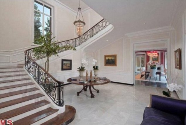 Majestic: The stairway is one of the most impressive parts of the wondrous Beverly Hills mansion
