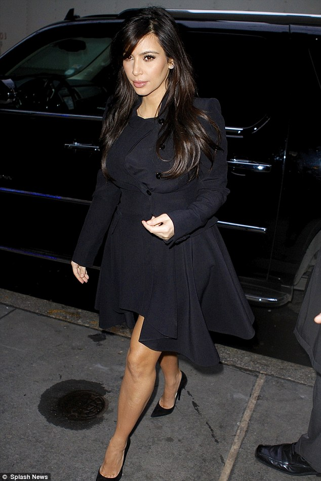 Opening up: Kim Kardashian arrives to speak on the Today Show in New York on Tuesday