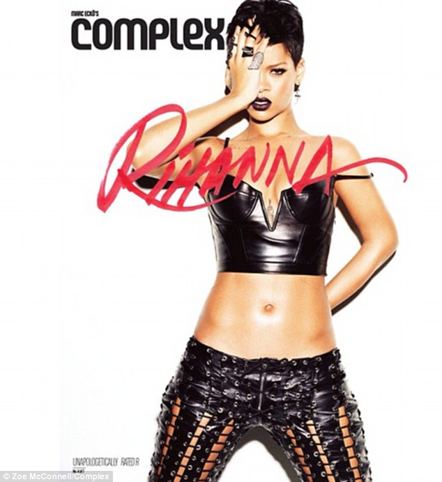 Gothic: This leather look takes no prisoners. The picture was meant to represent the singer's Rated R album