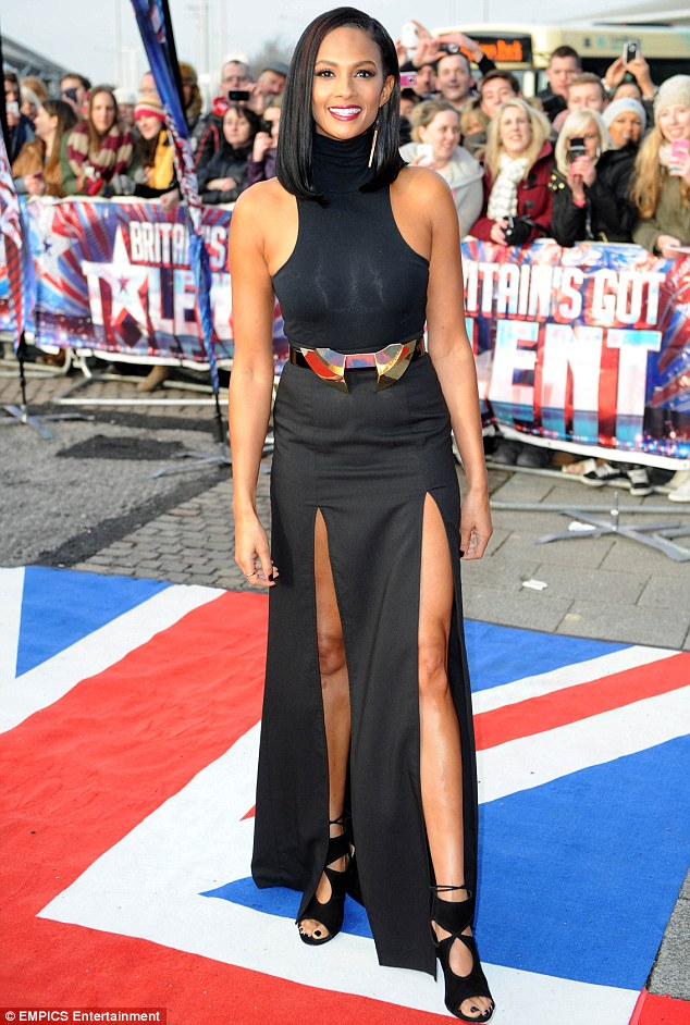 Alesha's Got Talent: The BGT judge showed off long legs in a racy skirt as auditions got underway in Cardiff