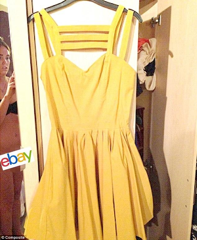 Espejito, espejito: Aimi Jones, de Oxfordshire, no se dio cuenta que se había capturado semidesnuda en un espejo cuando ella rompió el vestido para vender en eBay