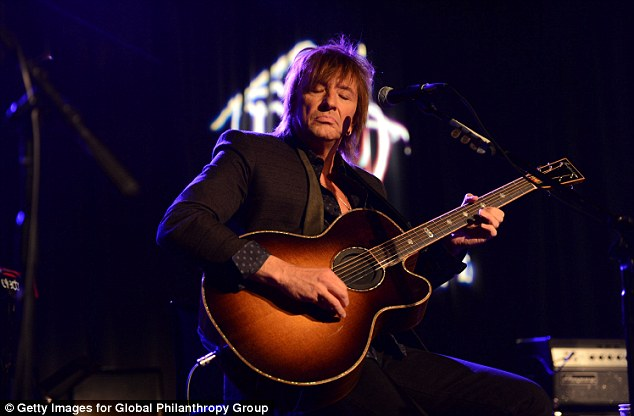 Rocking out: Richie Sambora performed at the grand opening event