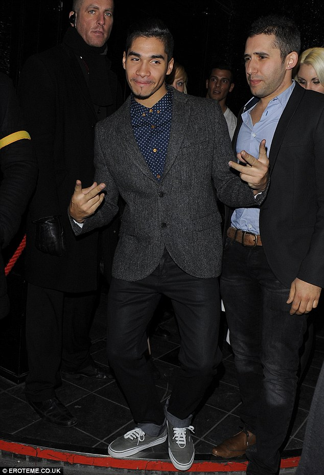 Party boy: Louis was spotted clubbing in London with Strictly pals last week