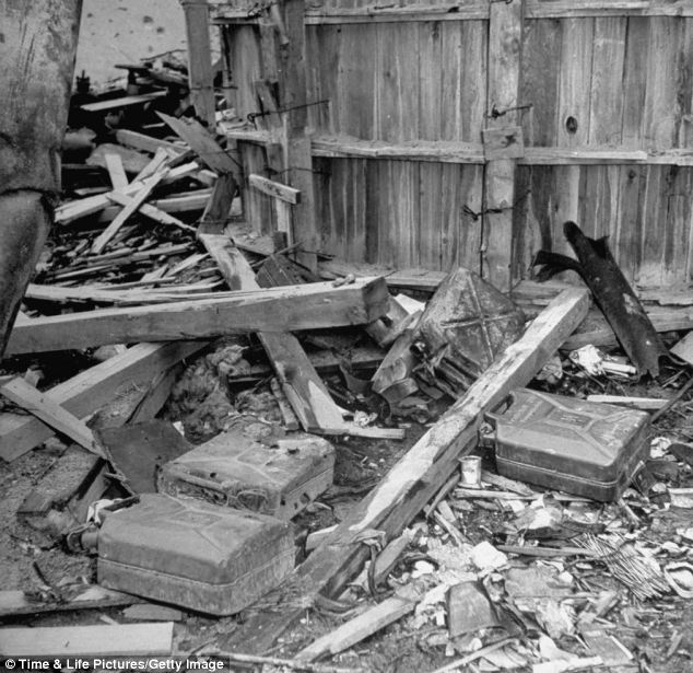 Source: Empty jerrycans of gasoline reportedly used by SS Troops to burn bodies of Adolph Hitler & Eva Braun after their suicides in his command bunker